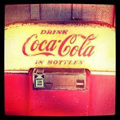 Coke machine & Coke bottles