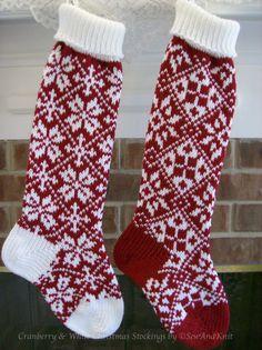 Knit Christmas Stocking  Fair Isle Design Christmas by SewAndKnit, $54.00