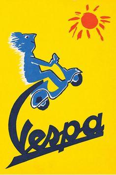 Publicité Vespa Soleil