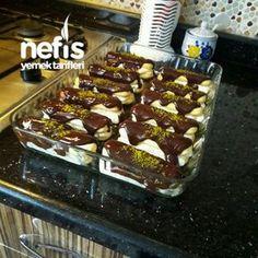 Müthiş Kremasıyla Kedidili Ekler Pasta Beautiful Cakes, My Favorite Food, Donuts, Waffles, Brownies, Cheesecake, Kaftan, Eminem, Pizza
