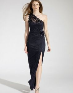Lipsy One Shoulder Lace Maxi Dress