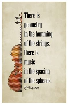 Pythagoras' Quote - Math Posters