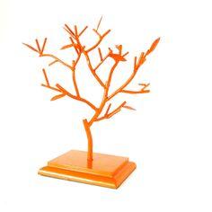 jewelry tree, upcycled home decor, organization, jewelry organizer, trees, orange
