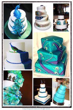 peacock wedding cake ideas peacock-wedding