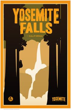 PrintCollection - Yosemite Falls, Yosemite National Park by Matt Brass