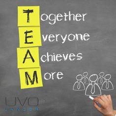 Together everyone achieves more #Uvolancer #Teamwork
