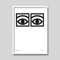 Kakao-Eyes von Olle Eksell Kunstdruck