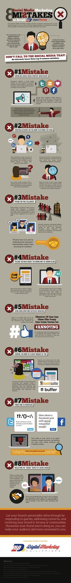 8 Social Media Mistakes to Avoid [INFOGRAPHIC] | Social Media Today