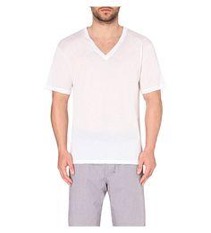 HANRO V-neck cotton t-shirt