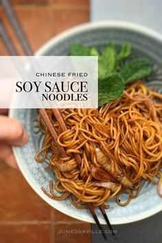 Soy Sauce Noodles (Chinese Noodle Stir Fry)