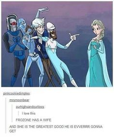 FROZONE, YOU HAVE A WIFE. THEY'RE GONNA MAKE AND INCRDIBLES II ALL ABOUT YOU AND YOUR WIFE DUUUUUUDE