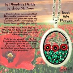 Remembrance Day Locket.