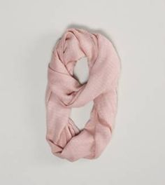 AEO Metallic Stripe Loop Scarf - This pink scarf would be perfect.