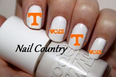 50pc+Tennessee+Vols+Football+Nail+Decals+Nail+Art+by+NailCountry,+$3.99