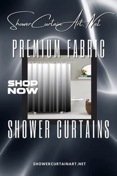 Drastically enhance your bathroom decor with a soft & stylish fabric shower curtain from Shower Curtain Art. Bohemian Shower Curtain, Shower Curtain Art, Modern Shower Curtains, Fabric Shower Curtains, Bathroom Shower Curtains, Curtain Fabric, Fade To Black, Vibrant Colors, Stylish