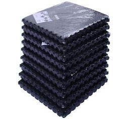 Globe House Products GHP Gym Playground Flooring 54-Tiles 216Sq-Ft Interlocking EVA Foam Floor Mat