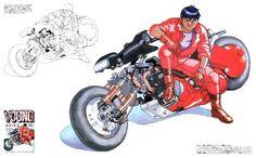 Akira is a classic in anime. The cyberpunk anime has been around since the and still everyone talks about it. Cyberpunk, Manga Anime, Anime Art, Otaku Anime, Shotaro Kaneda, Kaneda Bike, Akira Kaneda, Akira Anime, Katsuhiro Otomo