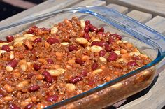 Pinner says,This Calico Beans recipe is my go-to dish for potlucks and parties. It's gluten free, too!