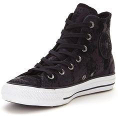 Converse Ctas Leather Hardware Hi-Top Plimsolls ($77) ❤ liked on Polyvore featuring shoes, sneakers, converse high tops, retro high top sneakers, leather hi top sneakers, converse shoes and perforated leather sneakers