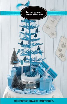 We'll have a blue Christmas with this clever twist on holiday decor.