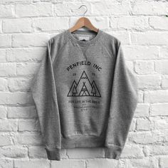 Penfield Teepee Crew Grey Melange - founded in Massachusetts, love this backpacking company