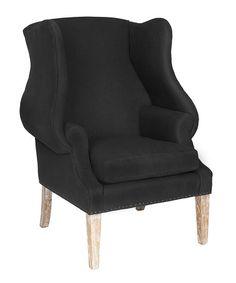 Nice curves, way too $$$, esp for quality - $650?  Black Darius Club Chair #zulilyfinds