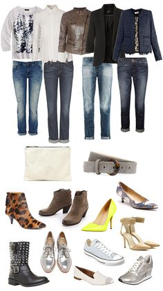 Casual Chic with Boyfriend Jeans. The shoes are the personality of the outfit.