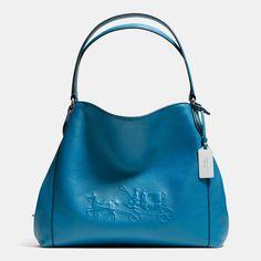 Edie shoulder bag #31 in silver/peacock