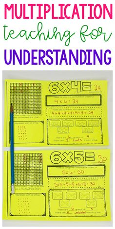 Teach multiplication facts for BOTH memorization and understanding with these Multiplication Fact Booklets. This teaching resource go through the 12 facts! Math Strategies, Math Resources, Math Activities, Math Multiplication, Subitizing, Fourth Grade Math, Math Intervention, Homeschool Math, Homeschooling