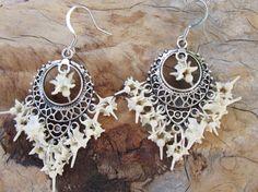 Antique style snake vertebrae earrings