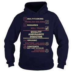 Awesome Tee For Quality Assurance Director T-Shirt, Hoodie Quality Assurance Director