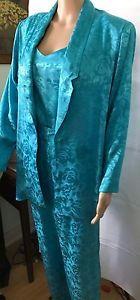 Vintage 1980's Aqua  Silky Shiny Jumper Suit Jacket Sheena Easton Style! Disco! | eBay