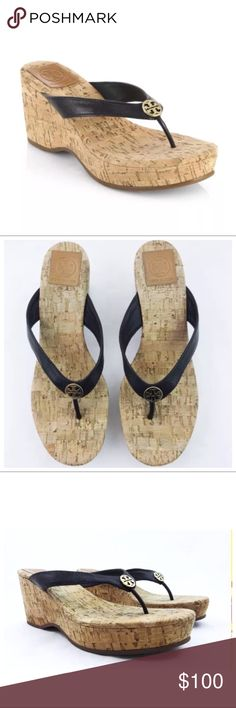 a01b73519464bf Tory Burch Suzy Cork Wedge Sandals Flip Flops Beautiful and in excellent  condition! Authentic Tory