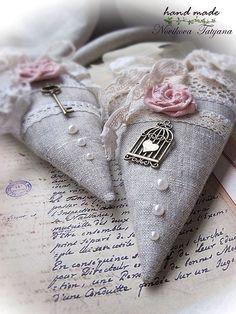Купить Забытое письмо ... (Тильда-сердечко в стиле шебби-шик) - серый, розовый, молочный, сердце