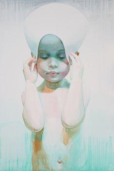 Immerse: Watercolor Portraits by Ali Cavanaugh | Inspiration Grid | Design Inspiration