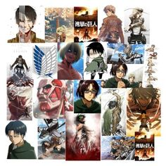"""""""attack on titans"""" by dreabelly ❤ liked on Polyvore featuring art"""