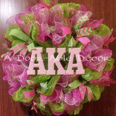AKA Sorority Wreath - pinned by pin4etsy.com