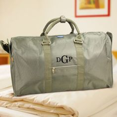 Personalized Initial Duffel Bag - Gifts Happen Here