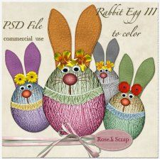 Rabbit Egg III by Rose.li #CUdigitals cudigitals.comcu commercialdigitalscrapscrapbookgraphics