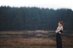 Girl in the wood | Photography | Woman | Outdoors | Woods | Black Dress