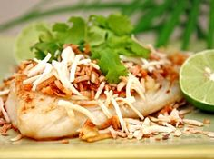 Be transported to a Thai beach with this lovely, tropical dish! Any white-fleshed fish is pan-fried and topped with a special coconut concoction of coconut, chili and lime made as spicy or mild as you like.