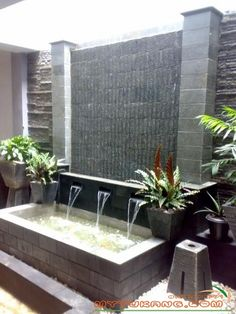 We'll give to you the Minimalist living room tomake your home better with the design you've never seen before. Take a look and enjoy the inspiring design Large Water Features, Pool Water Features, Water Features In The Garden, Outdoor Ponds, Ponds Backyard, Backyard Landscaping, Garden Furniture Sets, Outdoor Furniture Sets, Pond Design