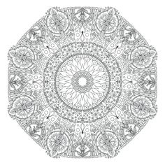 Mandala Monday - Free Mandalas to Color by WelshPixie - Artwork by Atmara Abstract Coloring Pages, Detailed Coloring Pages, Mandala Coloring Pages, Coloring Book Pages, Printable Coloring Pages, Coloring Pages For Kids, Tachisme, Art Template, To Color
