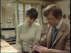Episode Edie & the Automobile - Glenda gives Barry an eclair to help him feel better after taking Edie for a driving lesson. British Sitcoms, British Comedy, Last Of Summer Wine, Feel Better, Eclair, Teaching, Feelings, Automobile, Doc Martins