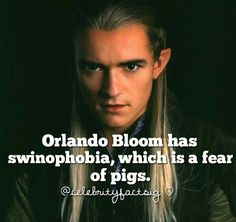 Known for his roles in 'Lord of the Rings' and 'Pirates of the Caribbean', British actor Orlando Bloom has been suffering from swinophobia for many years. Orlando Bloom is so terrified of pigs and in a case when one pig got loose on the set of 'Kingdom of Heaven', Bloom turned and ran like crazy. This clearly depicts his fear of pigs. People with swinophobia experience panic or anxiety attacks, rapid heartbeat, trembling, nausea, profuse sweating and shortness of breath. @jedimaestas #crying