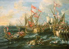 31 a.C - Batalla naval de Accio (Actium) - frente al golfo de Ambracia y el promontorio de Accio. La batalla se saldó con la victoria absoluta de Octaviano y la retirada de Marco Antonio y Cleopatra