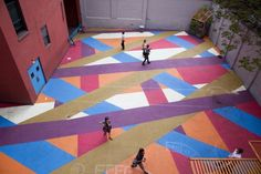 Courtyard Painting by Molly Dilworth: Lodge 441/Old School :: IDEAS CITY