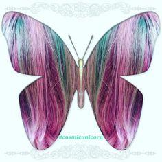 Vivid Hair Color, Purple Peacock, Light Purple, Tassel Necklace, Unicorn, Braids, Mermaid, Pastel, Beauty