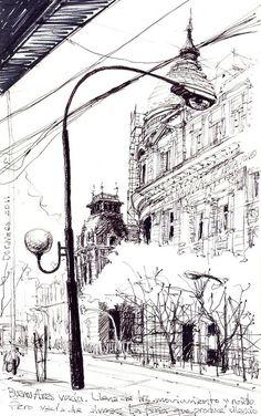 Dibujos de arquitecto: Buenos Aires vacía