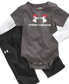 My love for Under Armour will now be extended to baby Jackson! My love for Under Armour will now be extended to baby Jackson! Under Armour Baby Set, Baby Boys Bodysuit and Pants Set Baby Outfits, Kids Outfits, Cool Baby, Baby Set, Baby Baby, Baby Boy Fashion, Kids Fashion, My Bebe, Jackson
